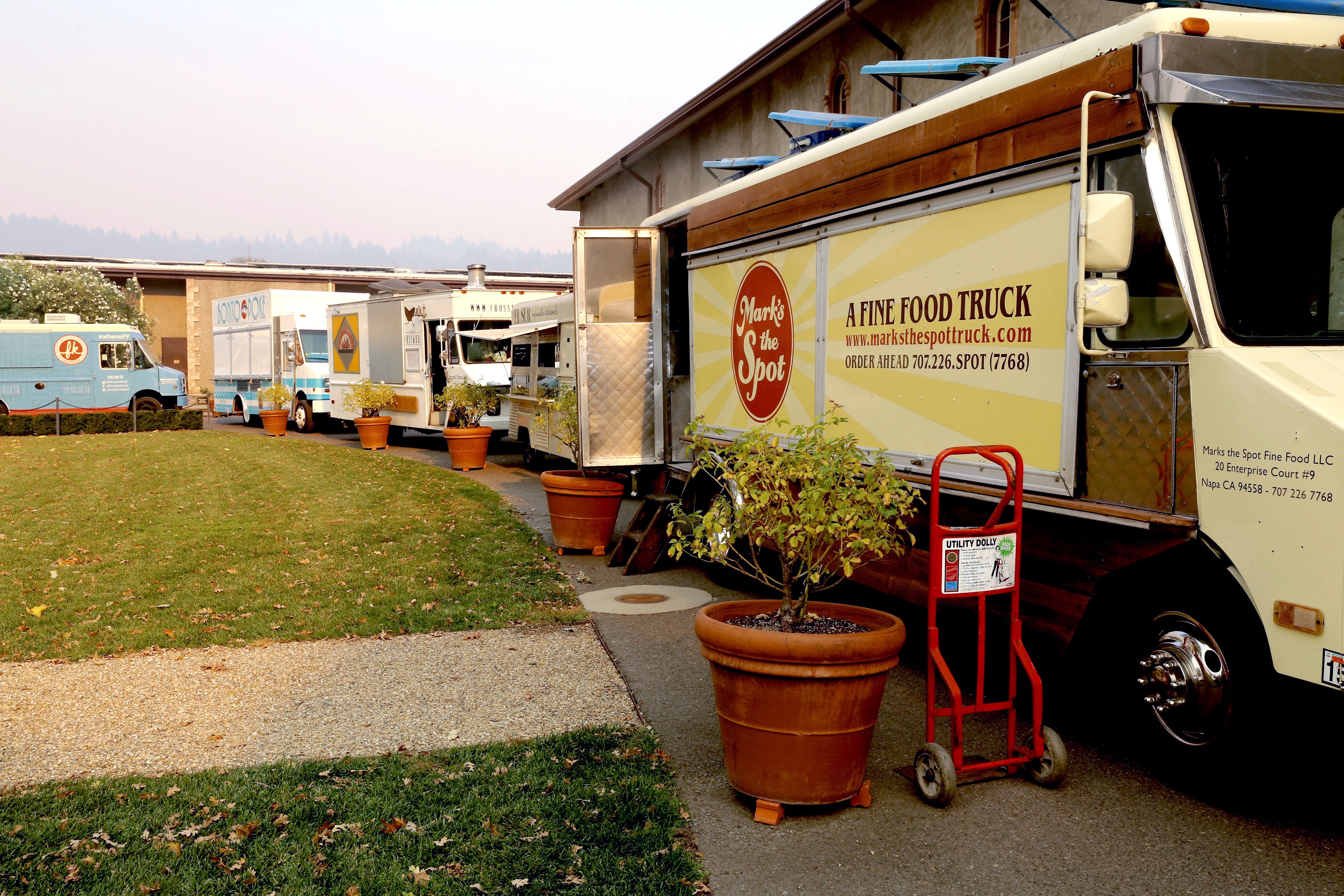 10 Food Trucks were the make shift kitchens for the Variety 10 tasting