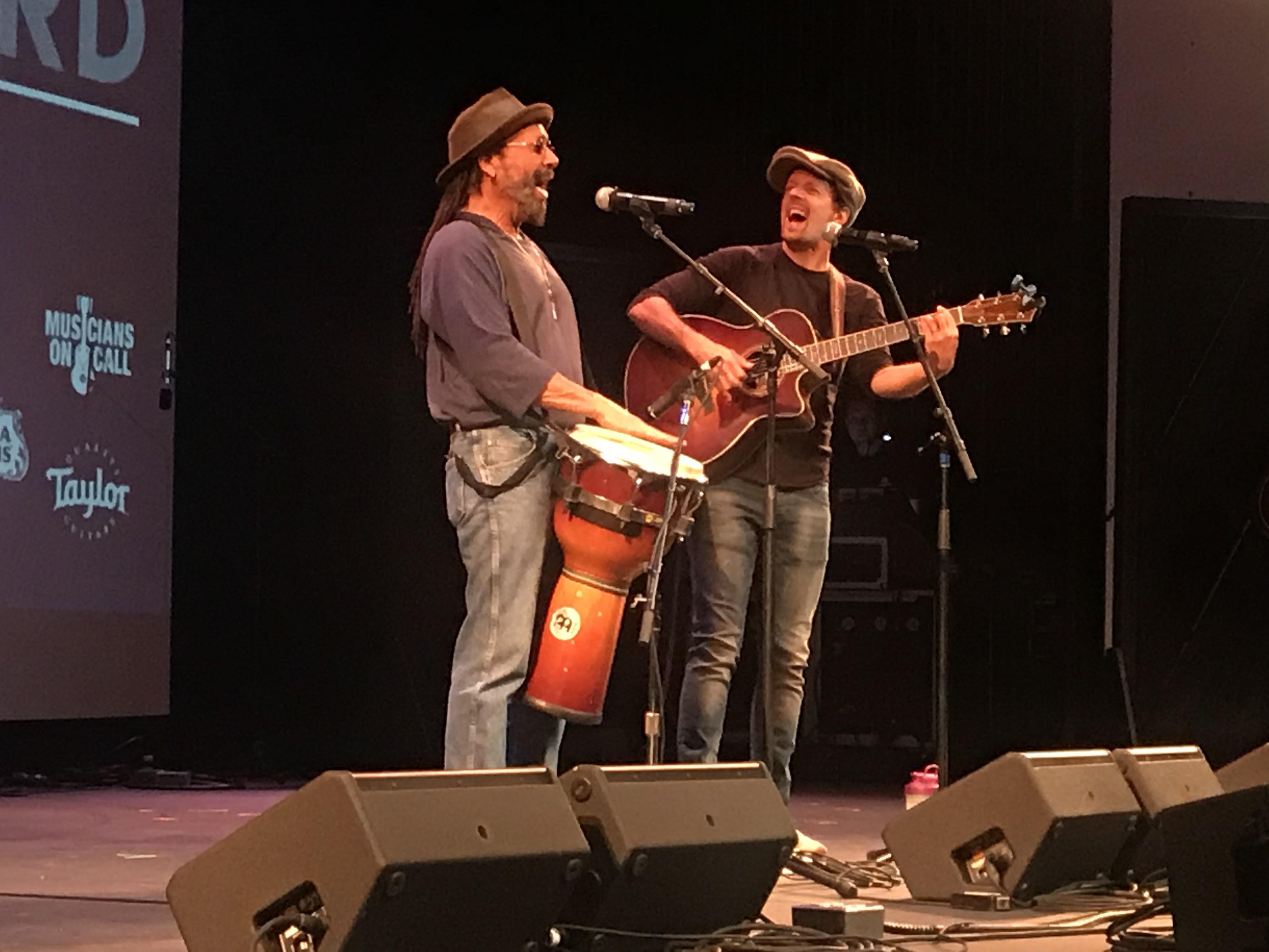 Toca Rivera and Jason Mraz