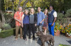. (L-R): Garen Staglin, Shari Staglin, Melissa Etheridge, Brandon Staglin (with Cooper), Shannon Staglin and her husband Artie Johnson at the 2015 Music Festival for Brain Health, Saturday, September 19, 2015, at Staglin Family Vineyard in Rutherford, Napa Valley