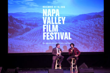 "NAPA, CA - NOVEMBER 9: Moderator Mike Fleming and actor Dev Patel attend the opening night screening and Q&A for The Weinstein Company's ""Lion"" at the Uptown Theatre during the 2016 Napa Valley Film Festival on November 9, 2016 in Napa, California. (Photo by Frank Micelotta/PictureGroup)"