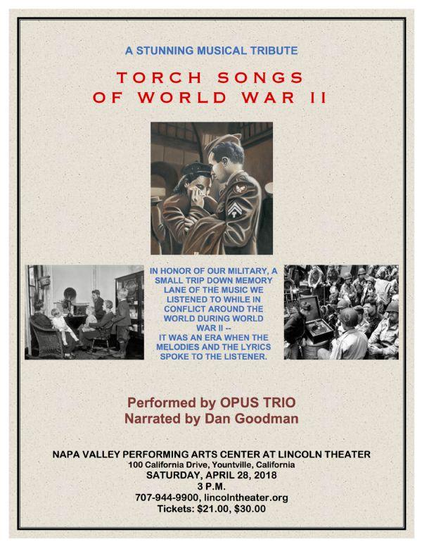 Torch Songs of World War II - Napa Valley Life Magazine