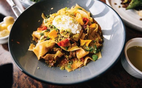 pasta with lambragaut
